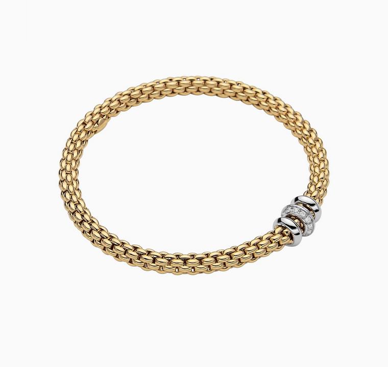 FOPE Flex'it Armband mit Diamanten gelbgold weißgold