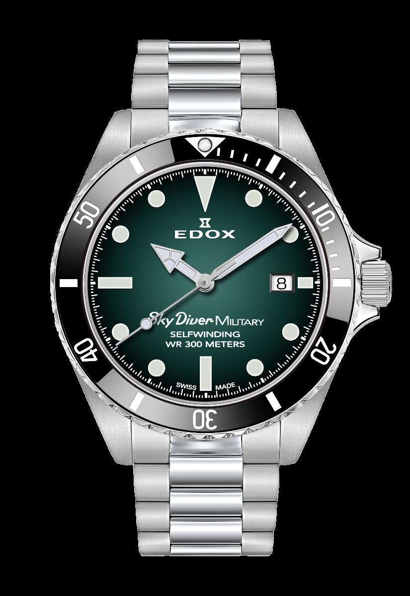 EDOX SkyDiver Military - grün
