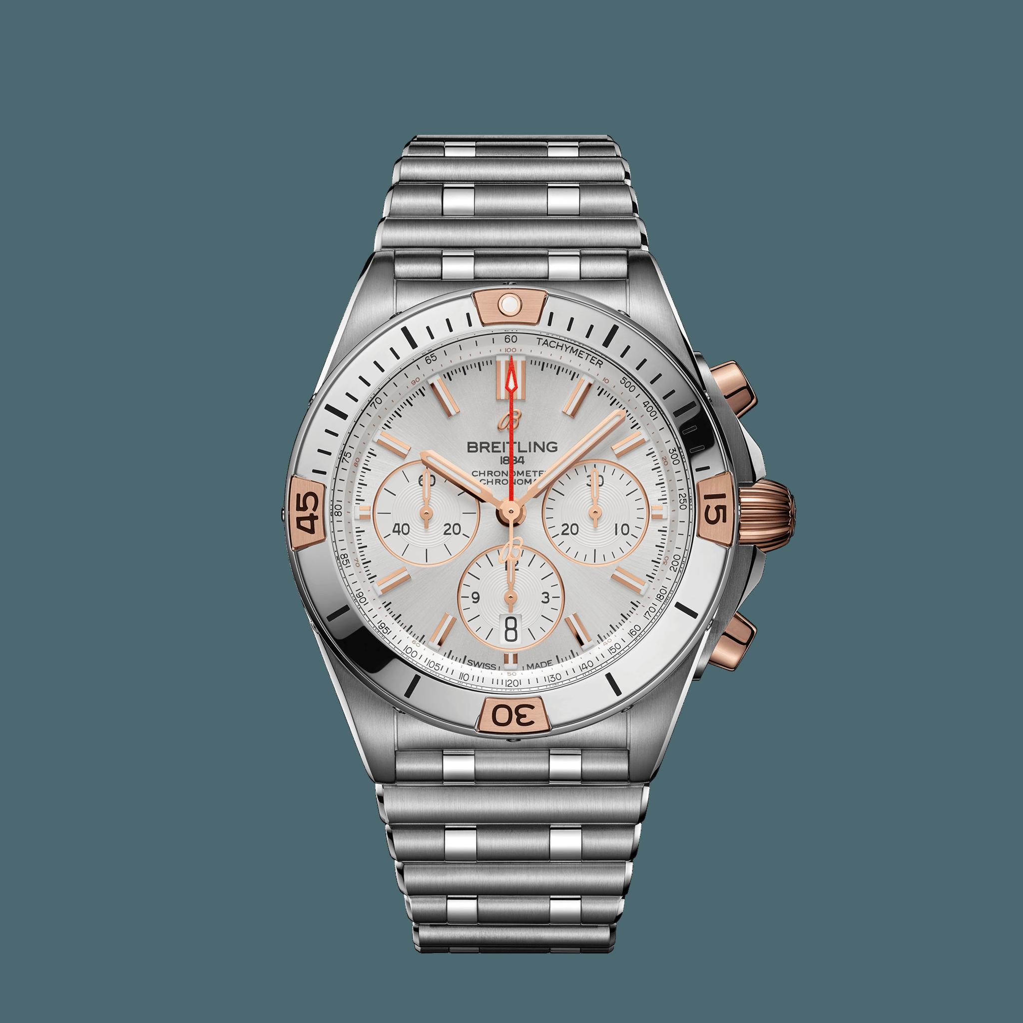 Breitling  Chronomat B01 42 - Edelstahl und 18-karätiges Rotgold