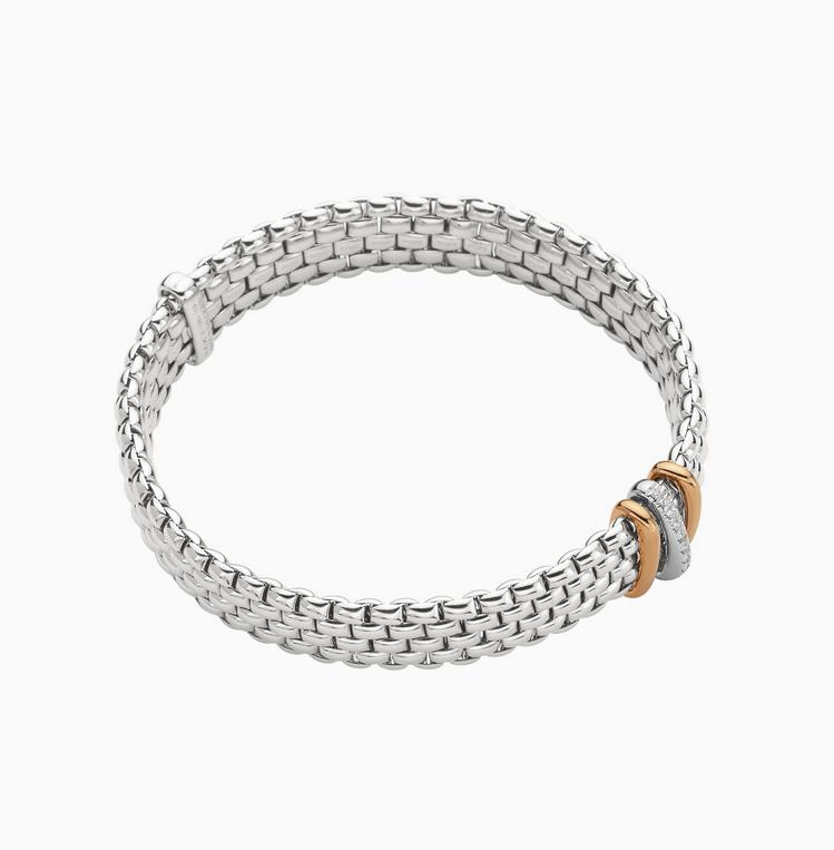 FOPE Flex'it Armband mit Diamanten Weißgold