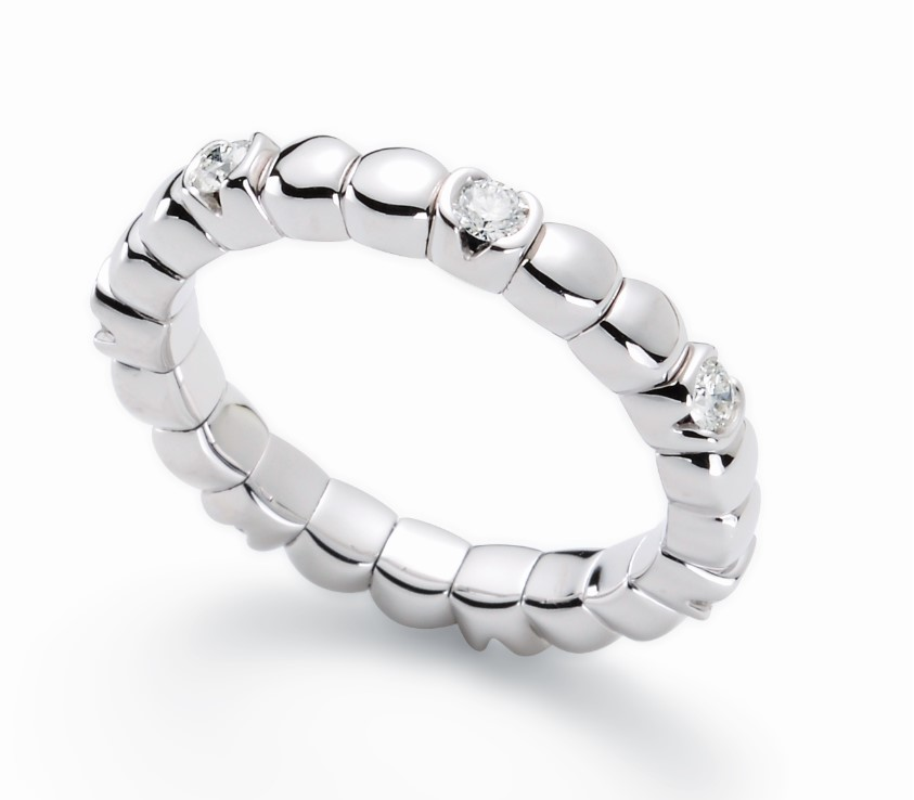 Silhouette Tennis-Flex Ring mit Brillanten