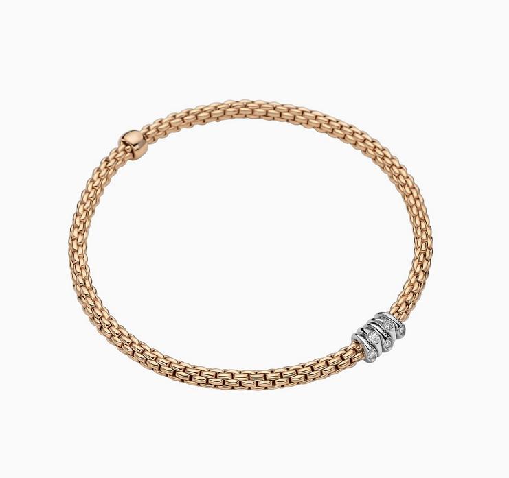 FOPE Flex'it Armband Roségold mit Diamanten