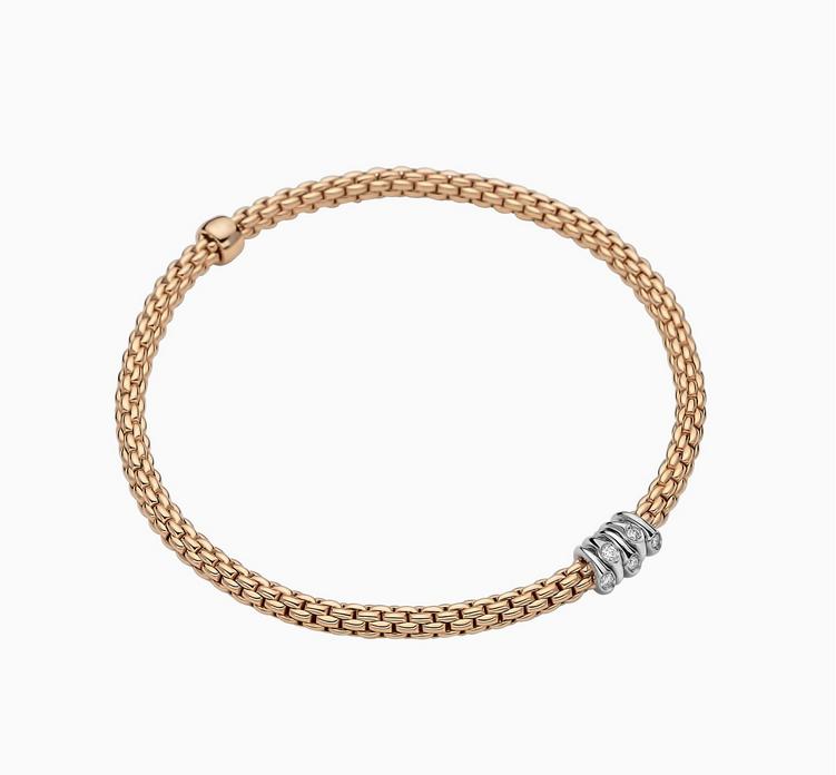 FOPE Flex'it Armband mit Diamanten Roségold