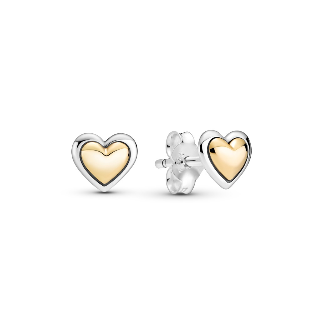 Pandora Ohrstecker gewölbtes Herz