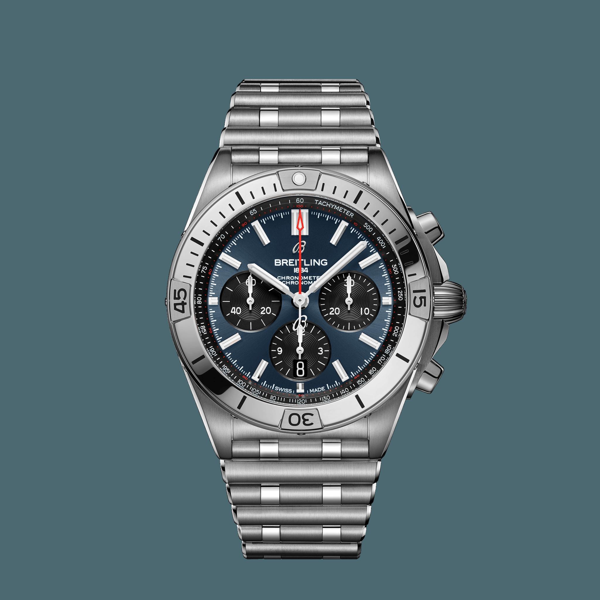 Breitling Chronomat B01 42 Edelstahl - Blau