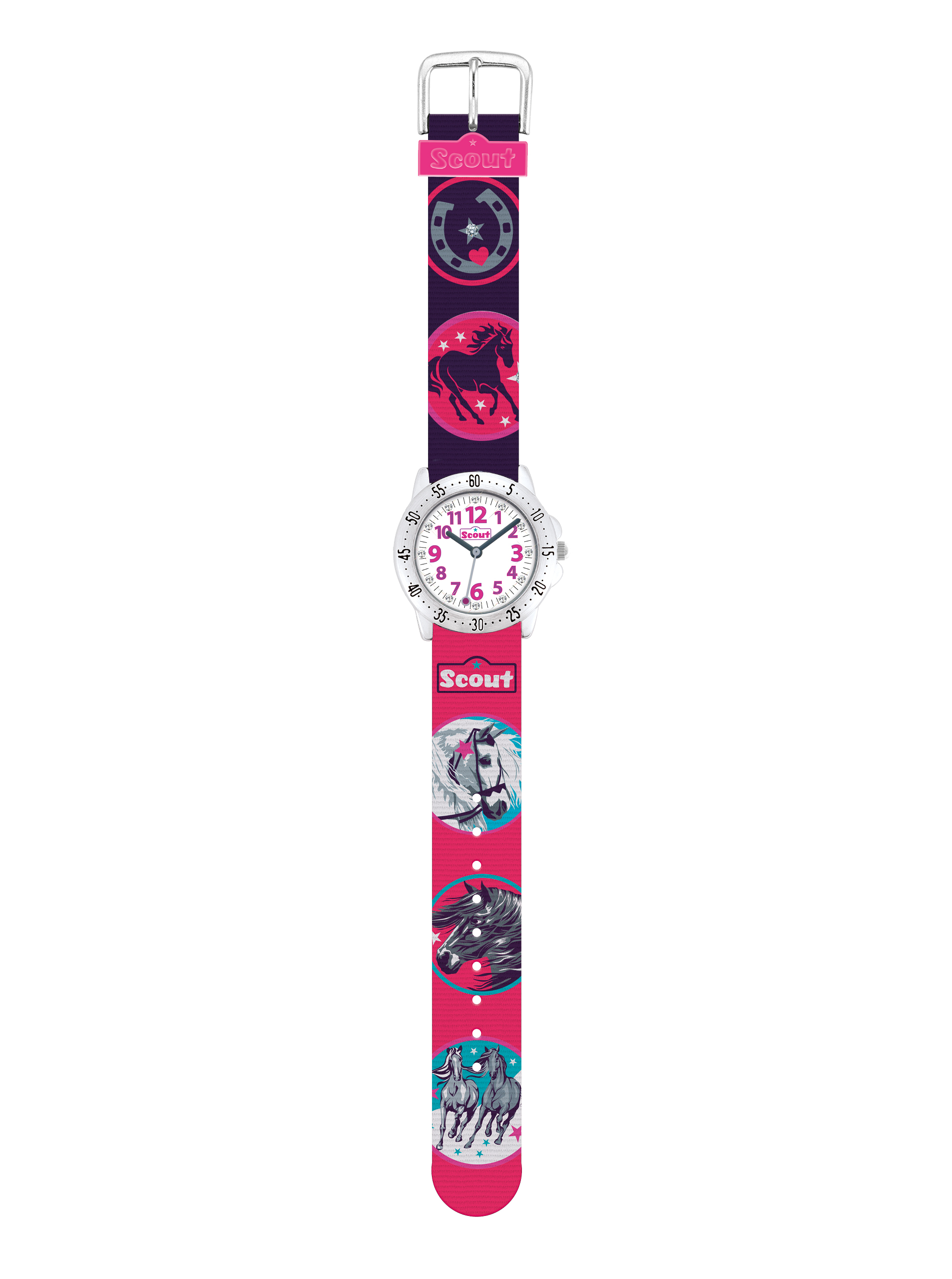 Scout Action Girls Pferde - pink